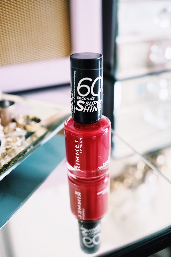 Rimmel 60 Second Nail Polish in Double Decker Red