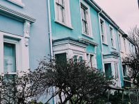 coloured houses in Falmouth