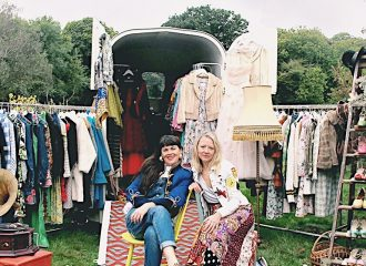 Kat and Emma, founders of Dot & Dol Vintage travelling shop