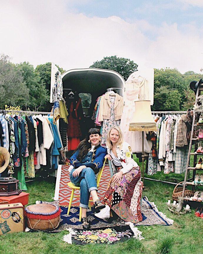 Kat and Emma, founders of Dot & Dol Vintage travelling shop